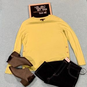 Banana Republic Merino Button-Side Sweater